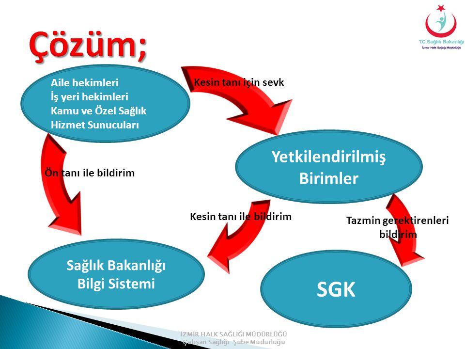 Çözüm; SGK Yetkilendirilmiş Birimler Sağlık Bakanlığı Bilgi Sistemi