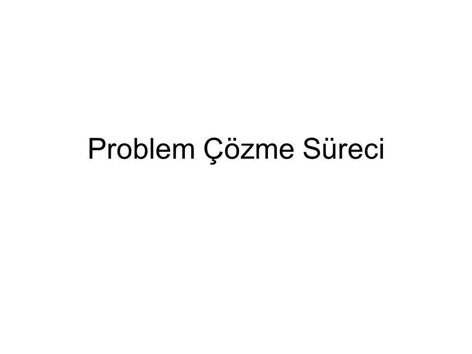 Problem Çözme Süreci