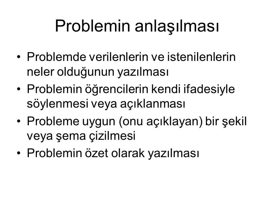 Problemin anlaşılması