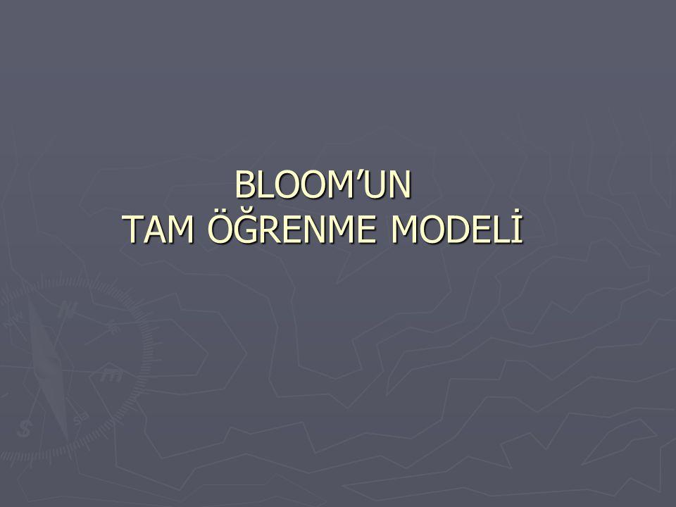 BLOOM'UN TAM ÖĞRENME MODELİ