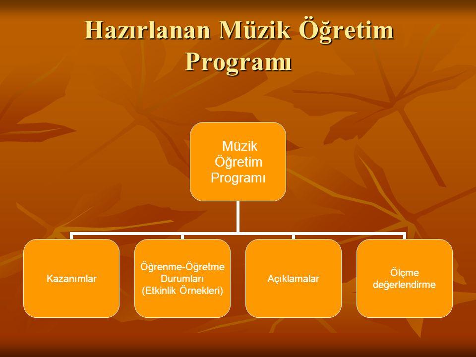 Hazırlanan Müzik Öğretim Programı