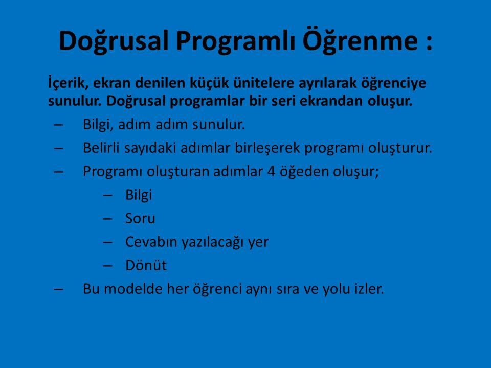 Doğrusal Programlı Öğrenme :