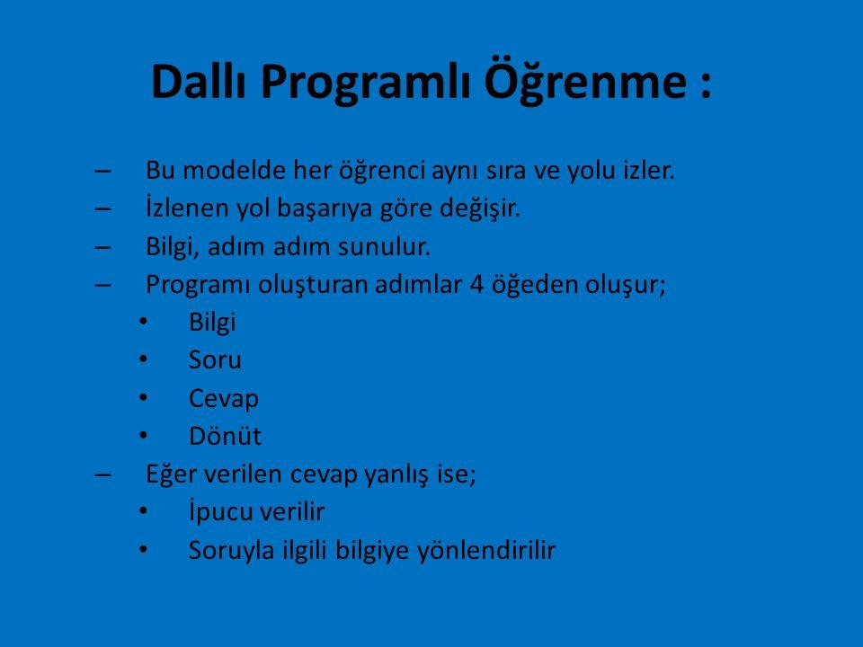 Dallı Programlı Öğrenme :