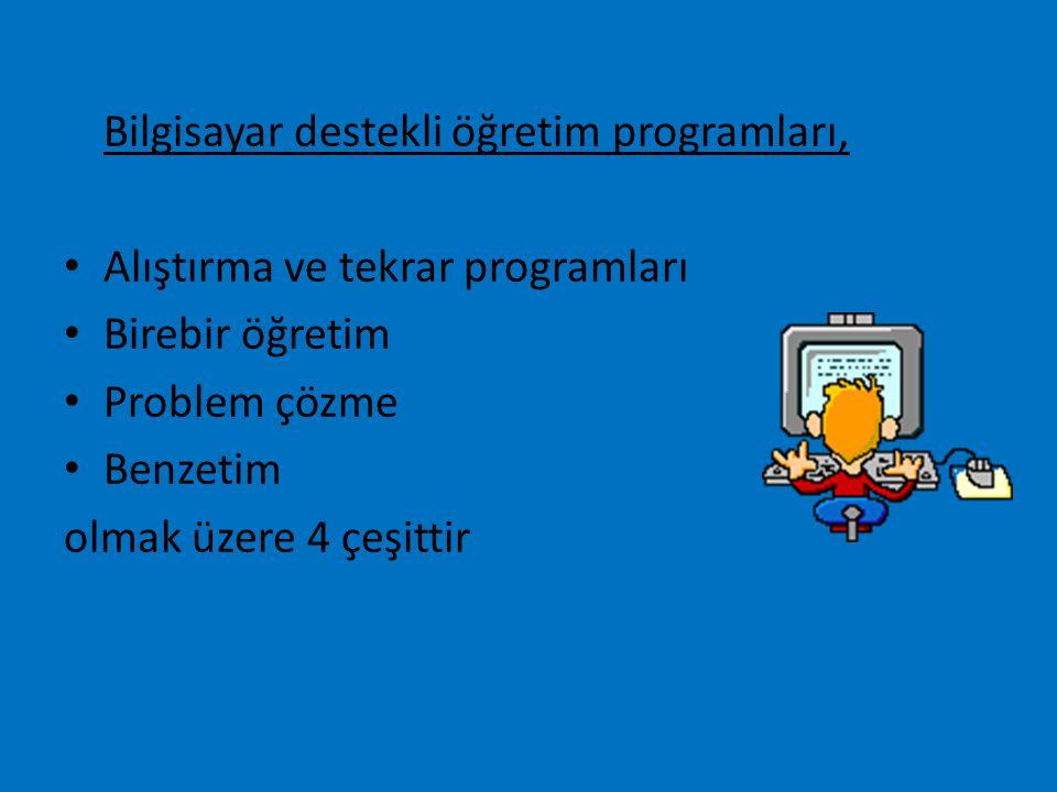 Bilgisayar destekli öğretim programları,