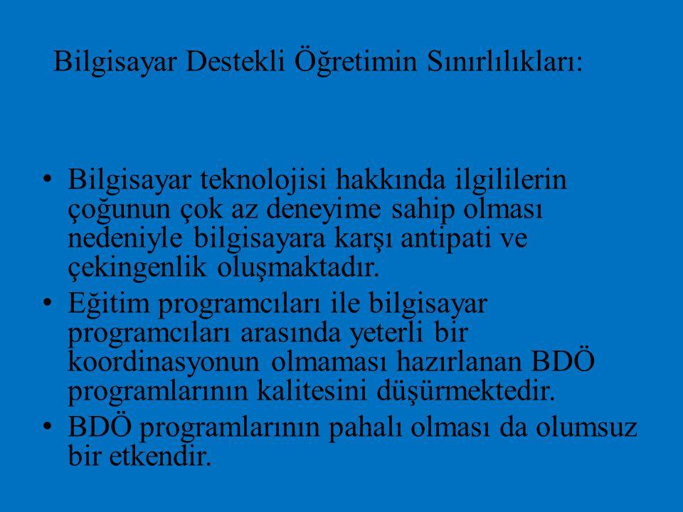 Bilgisayar Destekli Öğretimin Sınırlılıkları:
