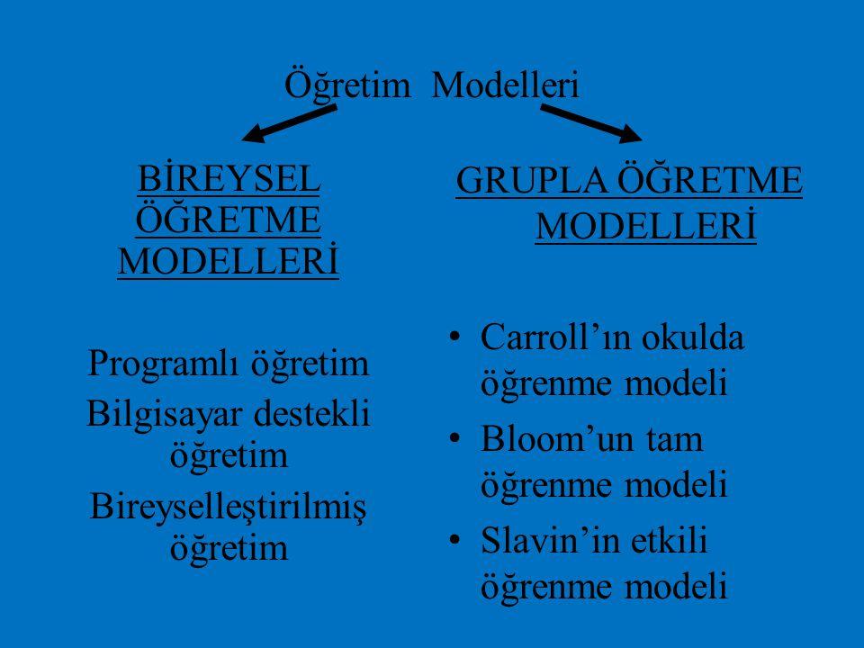 BİREYSEL ÖĞRETME MODELLERİ