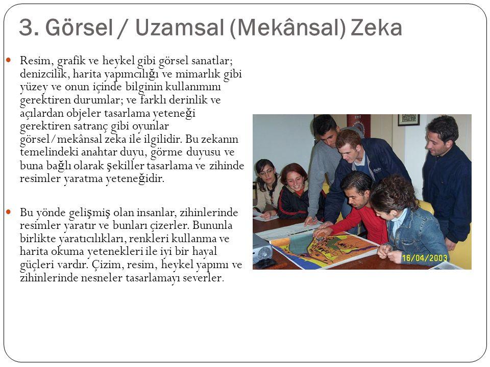 3. Görsel / Uzamsal (Mekânsal) Zeka