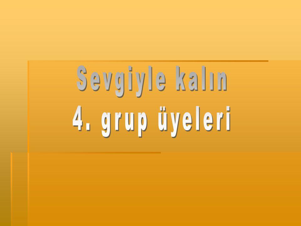 Sevgiyle kalın 4. grup üyeleri