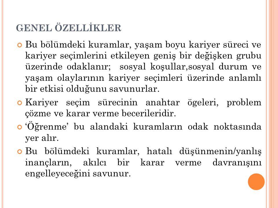 GENEL ÖZELLİKLER