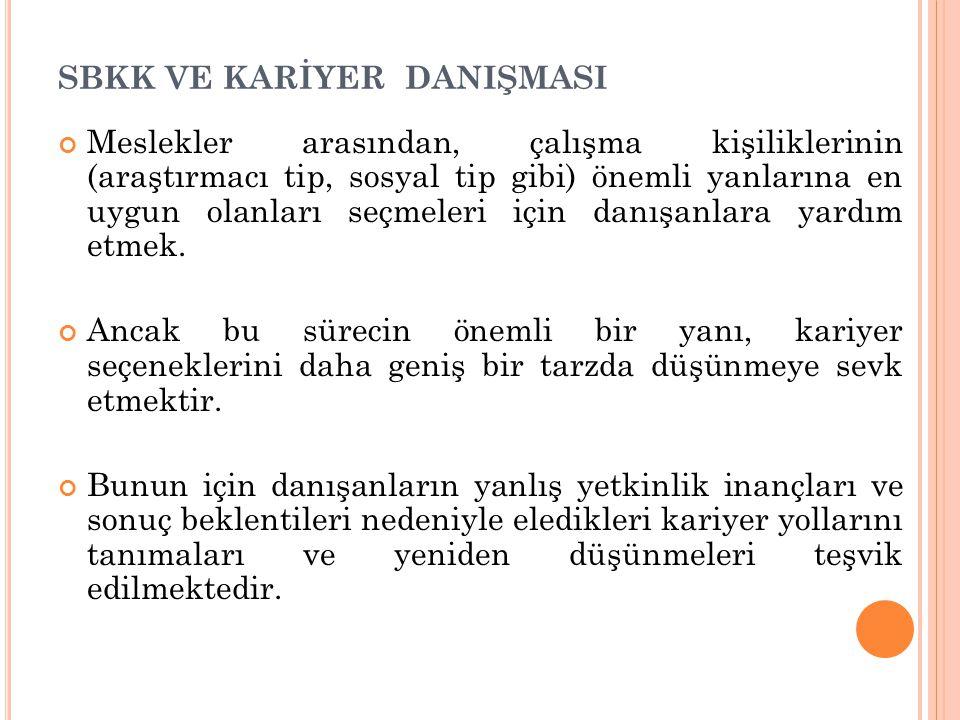 SBKK VE KARİYER DANIŞMASI