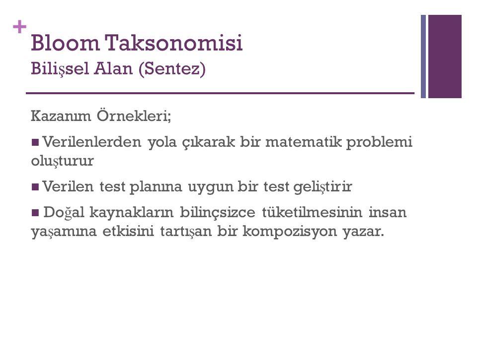 Bloom Taksonomisi Bilişsel Alan (Sentez)