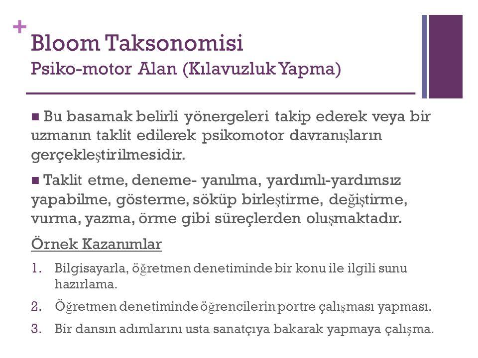 Bloom Taksonomisi Psiko-motor Alan (Kılavuzluk Yapma)