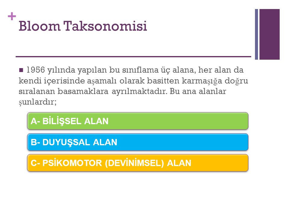 Bloom Taksonomisi
