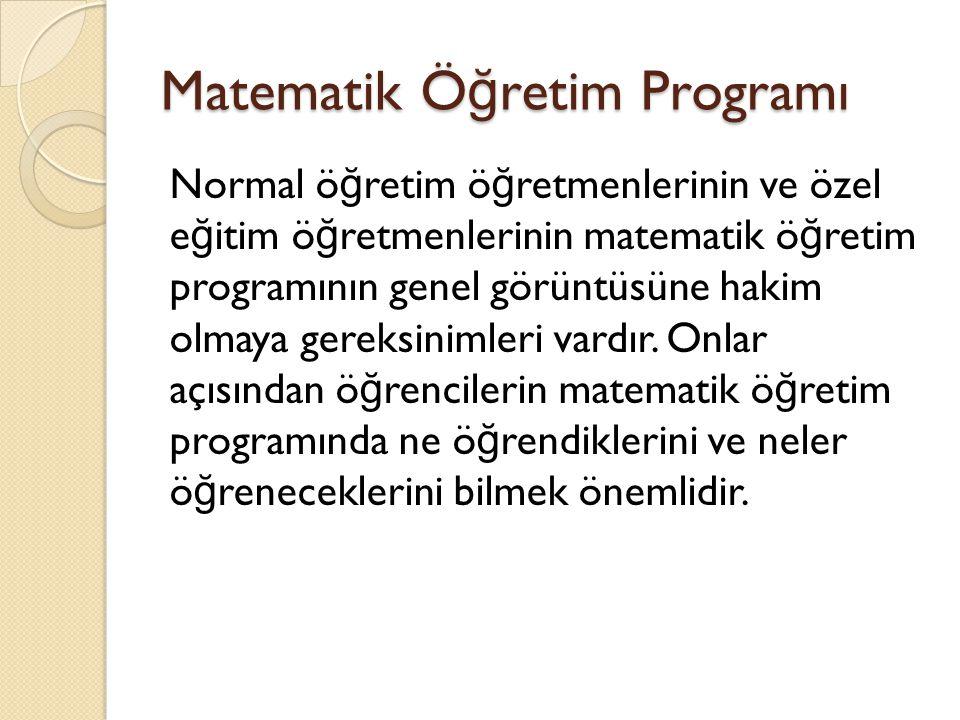 Matematik Öğretim Programı