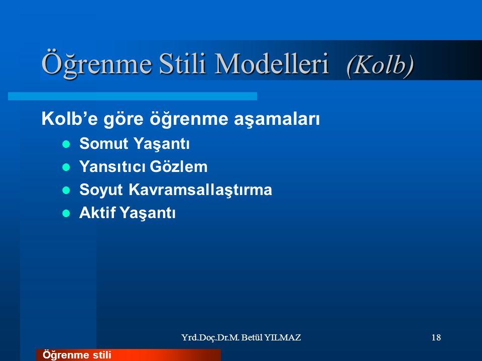 Öğrenme Stili Modelleri (Kolb)