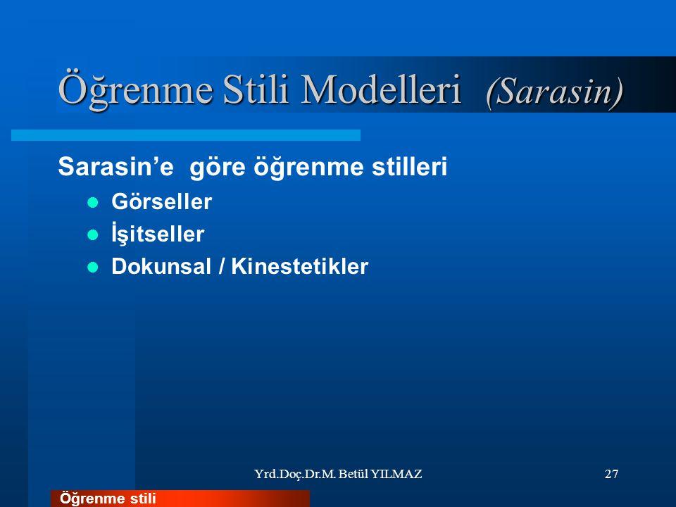 Öğrenme Stili Modelleri (Sarasin)