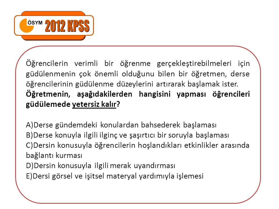 2012 KPSS