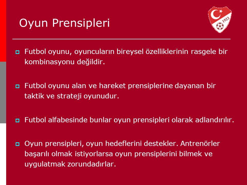 Oyun Prensipleri Futbol oyunu, oyuncuların bireysel özelliklerinin rasgele bir kombinasyonu değildir.