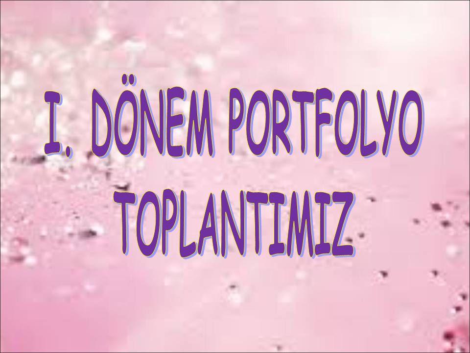 I. DÖNEM PORTFOLYO TOPLANTIMIZ