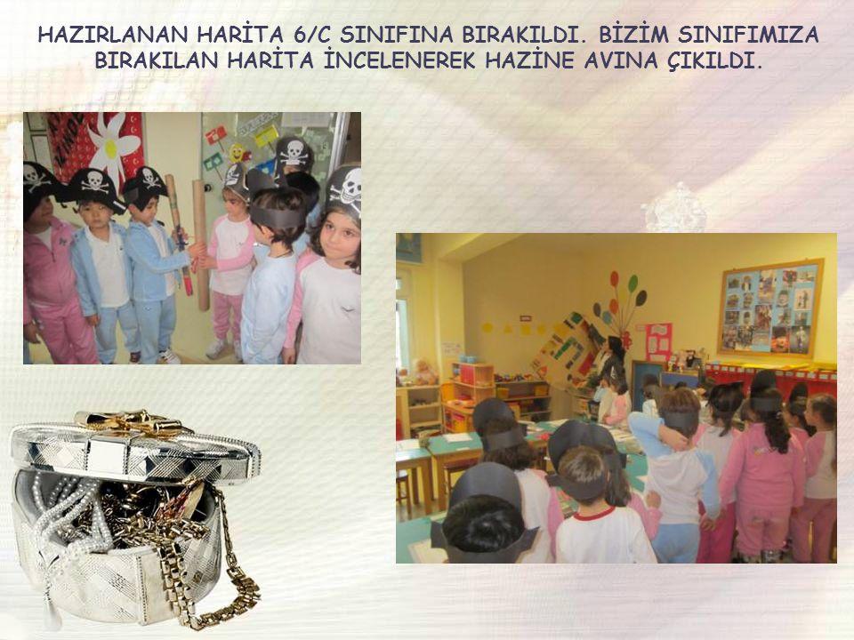 HAZIRLANAN HARİTA 6/C SINIFINA BIRAKILDI