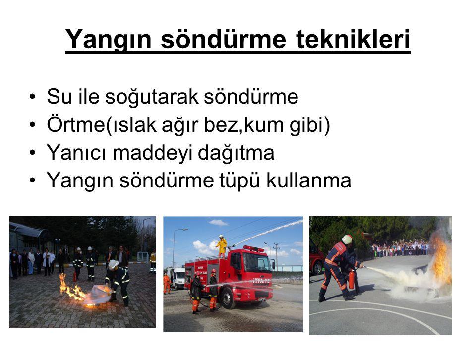 Yangın söndürme teknikleri