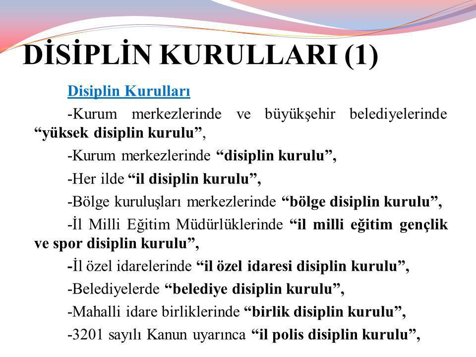 DİSİPLİN KURULLARI (1) Disiplin Kurulları