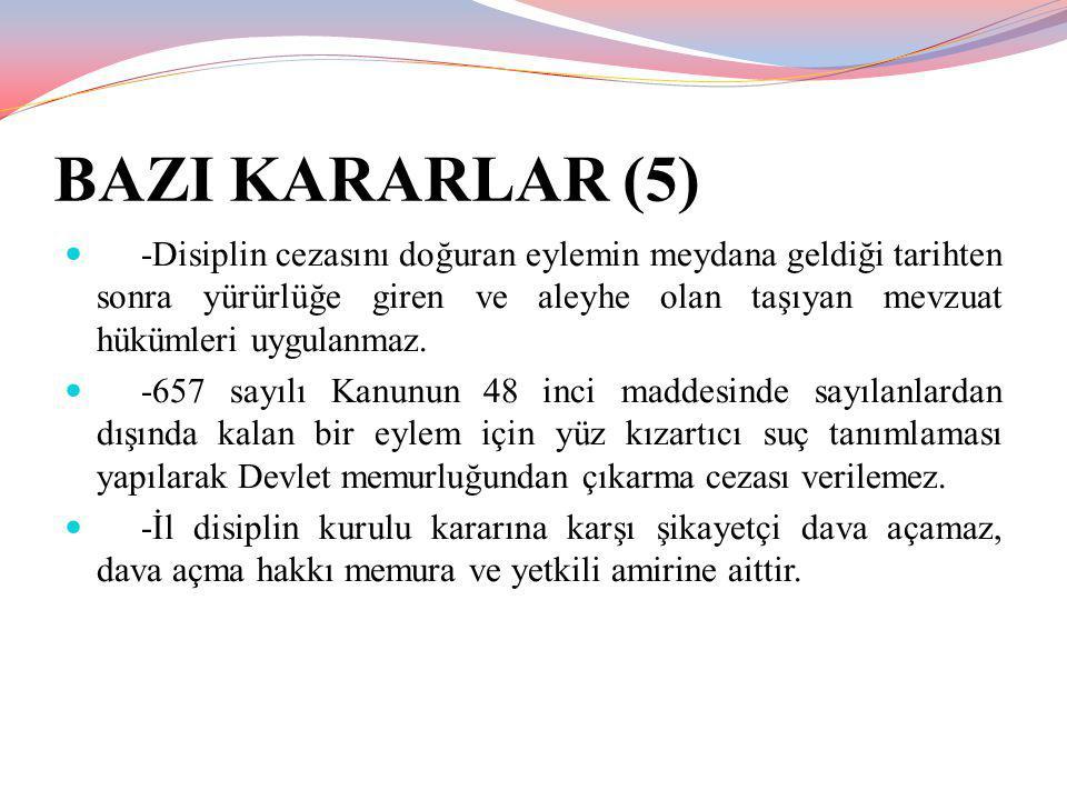 BAZI KARARLAR (5)