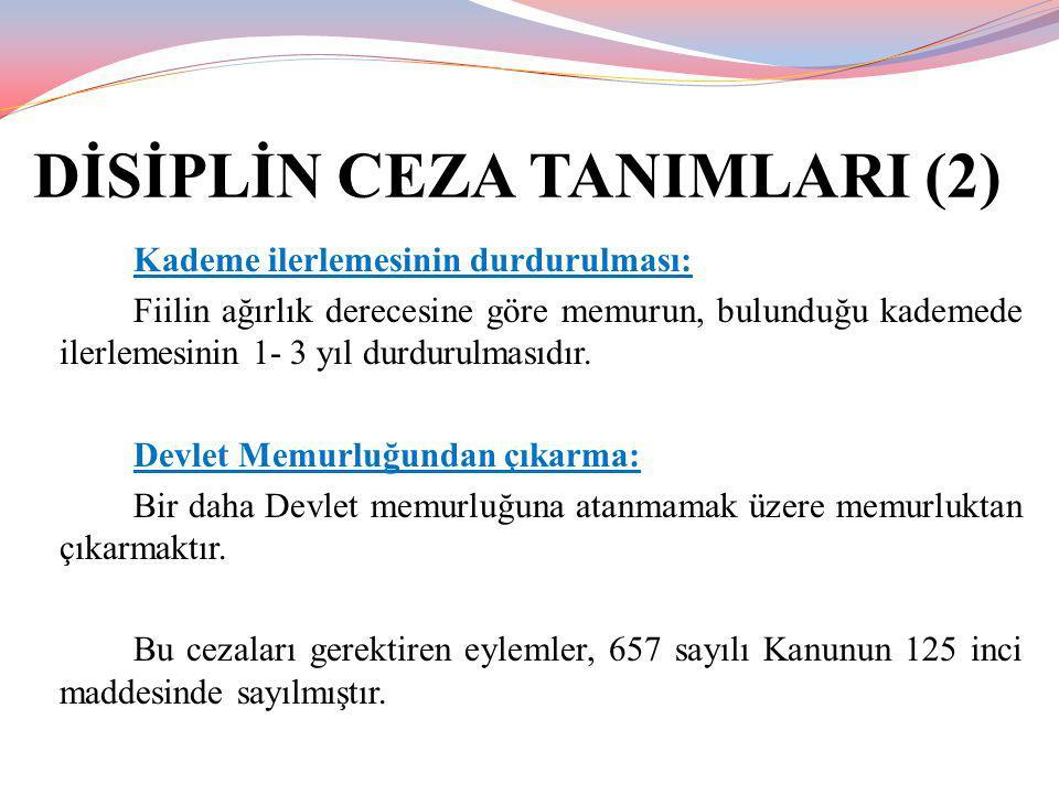 DİSİPLİN CEZA TANIMLARI (2)