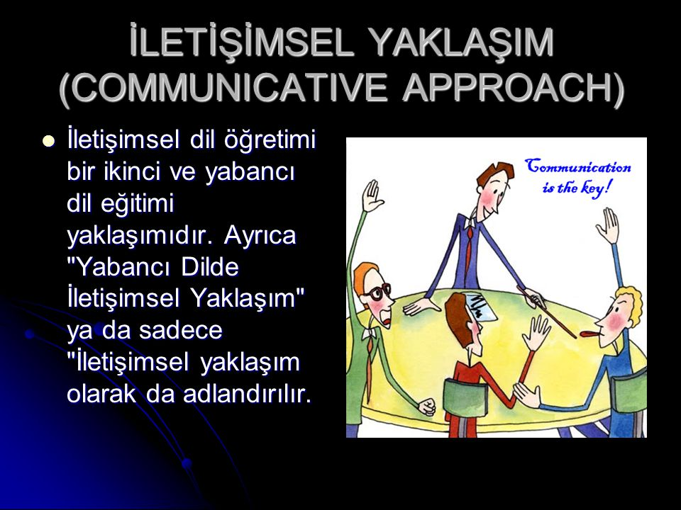 İLETİŞİMSEL YAKLAŞIM (COMMUNICATIVE APPROACH)