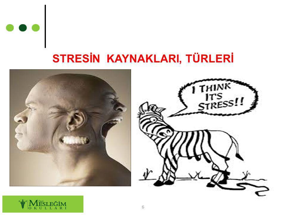 STRESİN KAYNAKLARI, TÜRLERİ