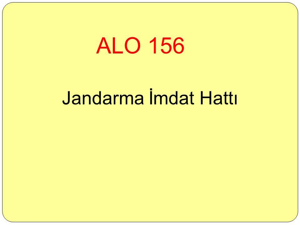ALO 156 Jandarma İmdat Hattı
