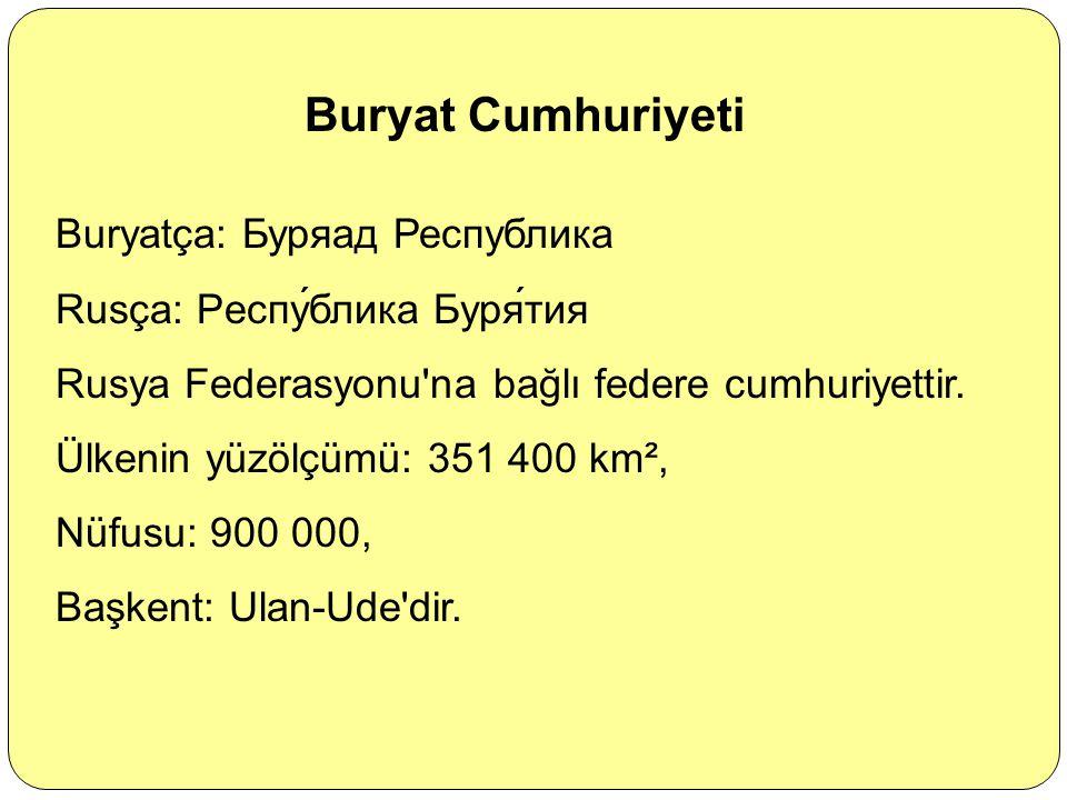 Buryat Cumhuriyeti Buryatça: Буряад Республика