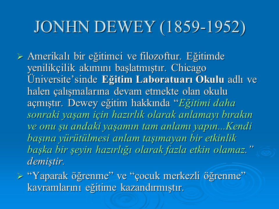 JONHN DEWEY (1859-1952)