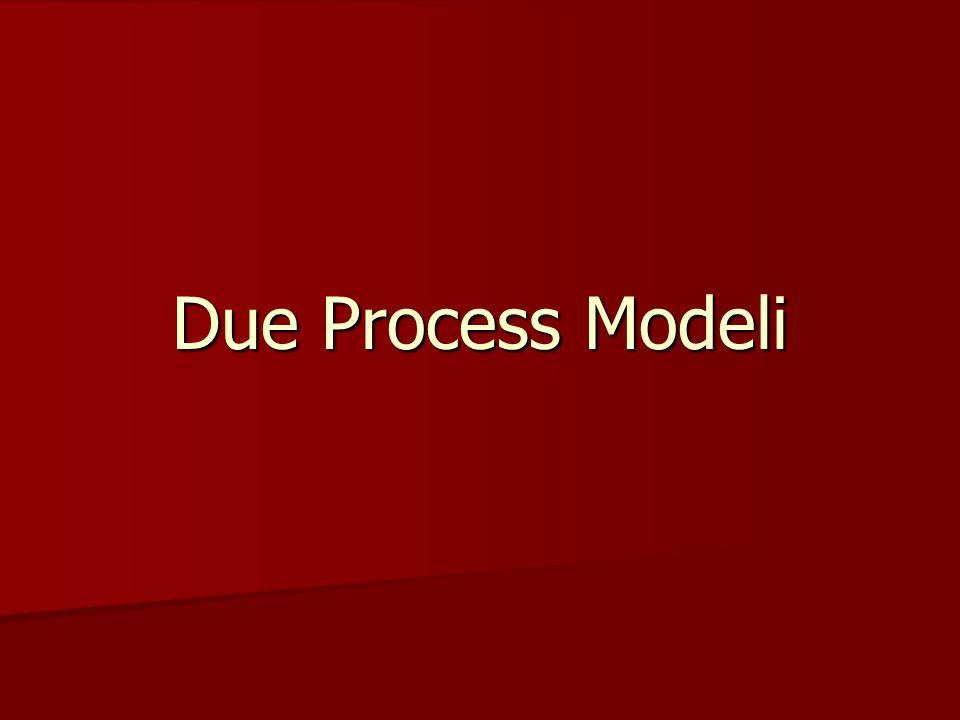 Due Process Modeli