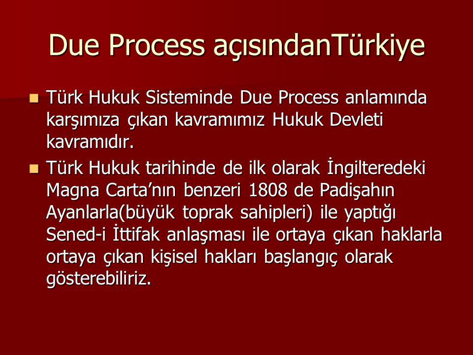 Due Process açısındanTürkiye