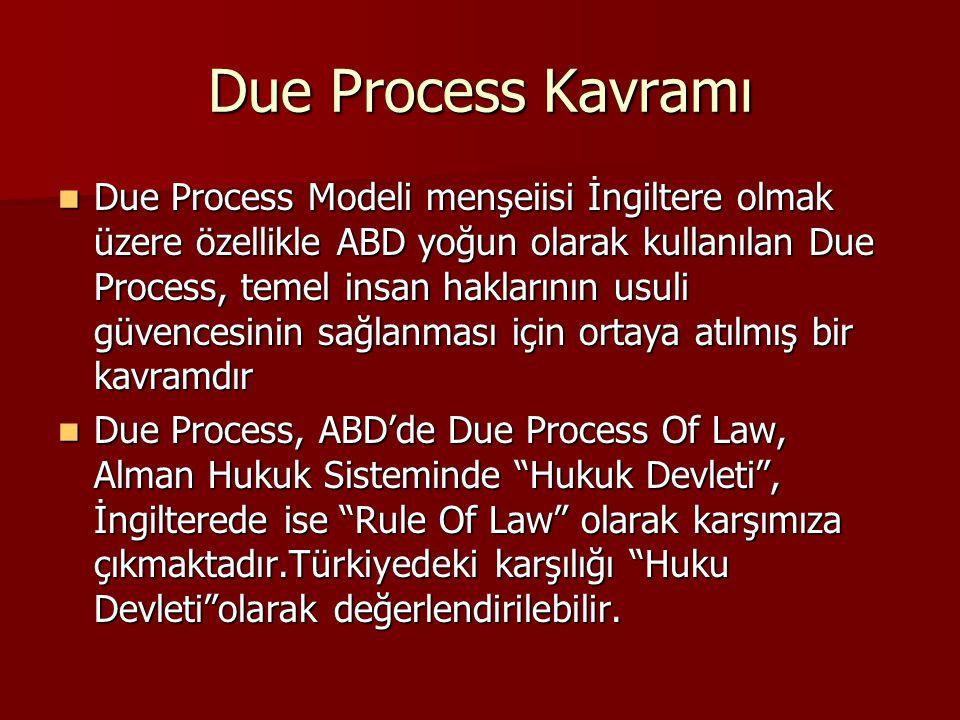 Due Process Kavramı