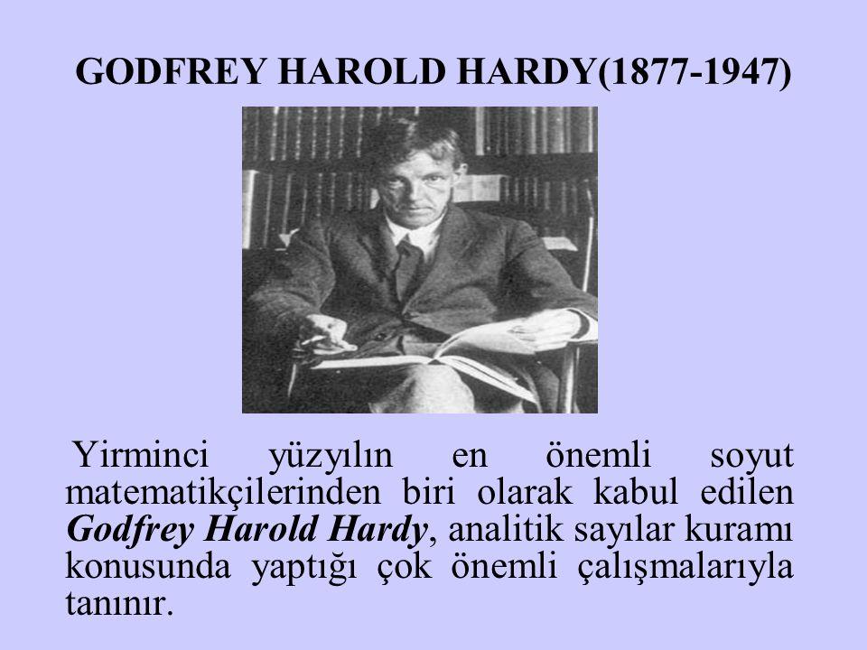 GODFREY HAROLD HARDY(1877-1947)