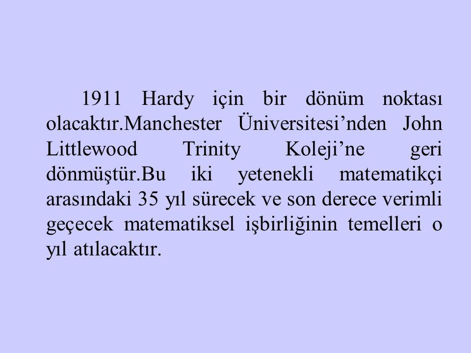 1911 Hardy için bir dönüm noktası olacaktır
