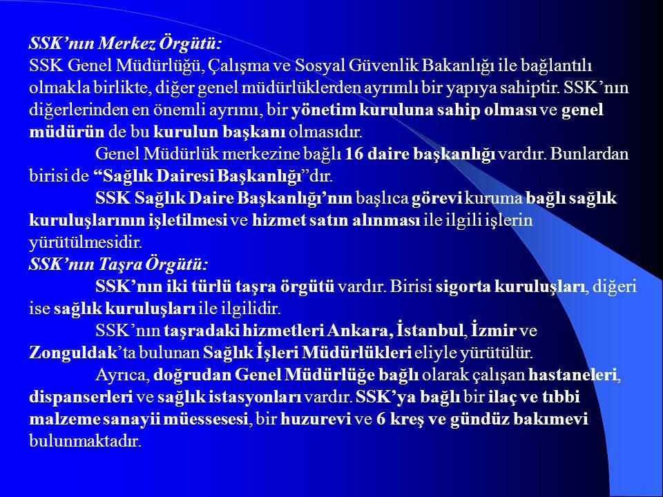 SSK'nın Merkez Örgütü: