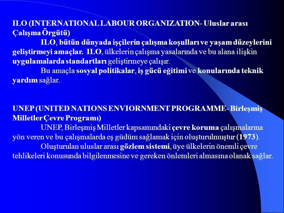 ILO (INTERNATIONAL LABOUR ORGANIZATION- Uluslar arası Çalışma Örgütü)