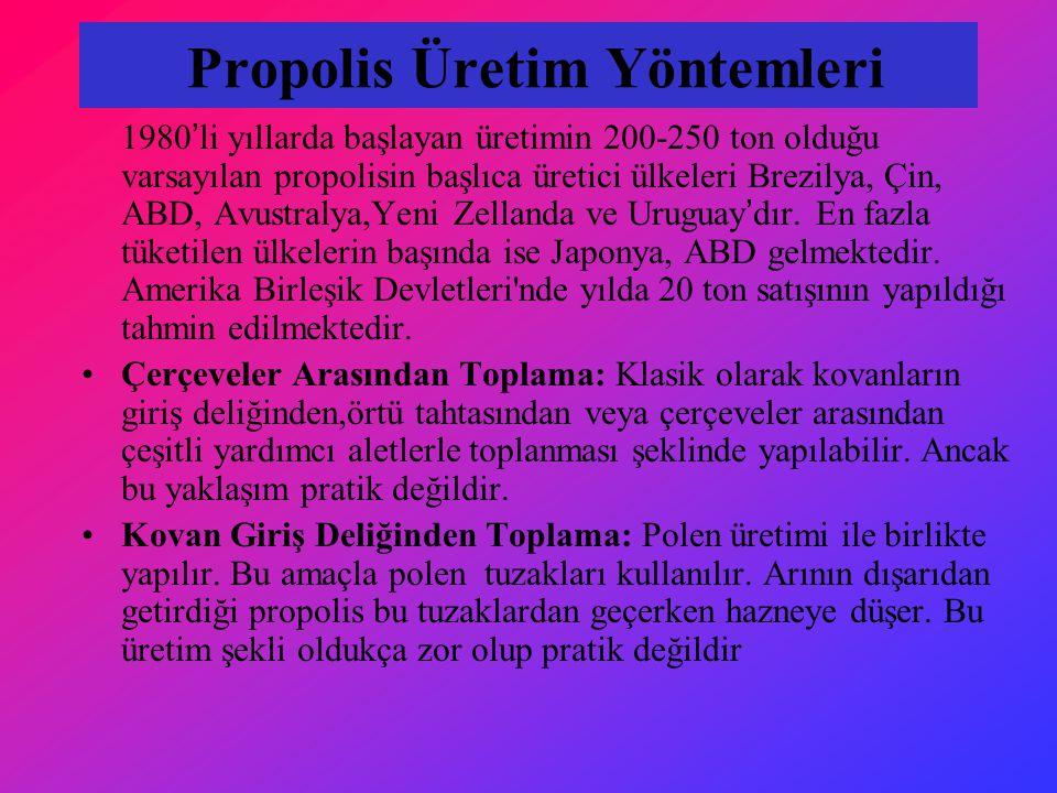 Propolis Üretim Yöntemleri