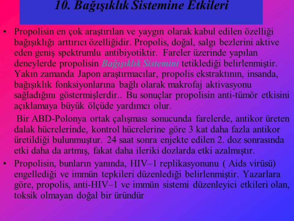 10. Bağışıklık Sistemine Etkileri