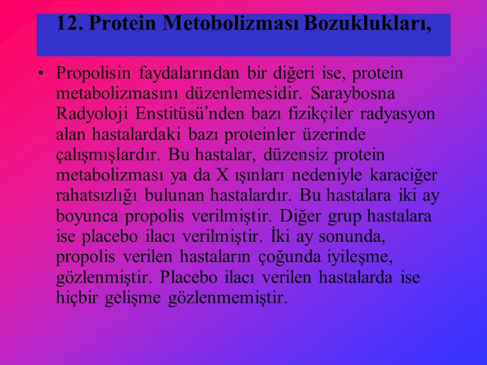 12. Protein Metobolizması Bozuklukları,