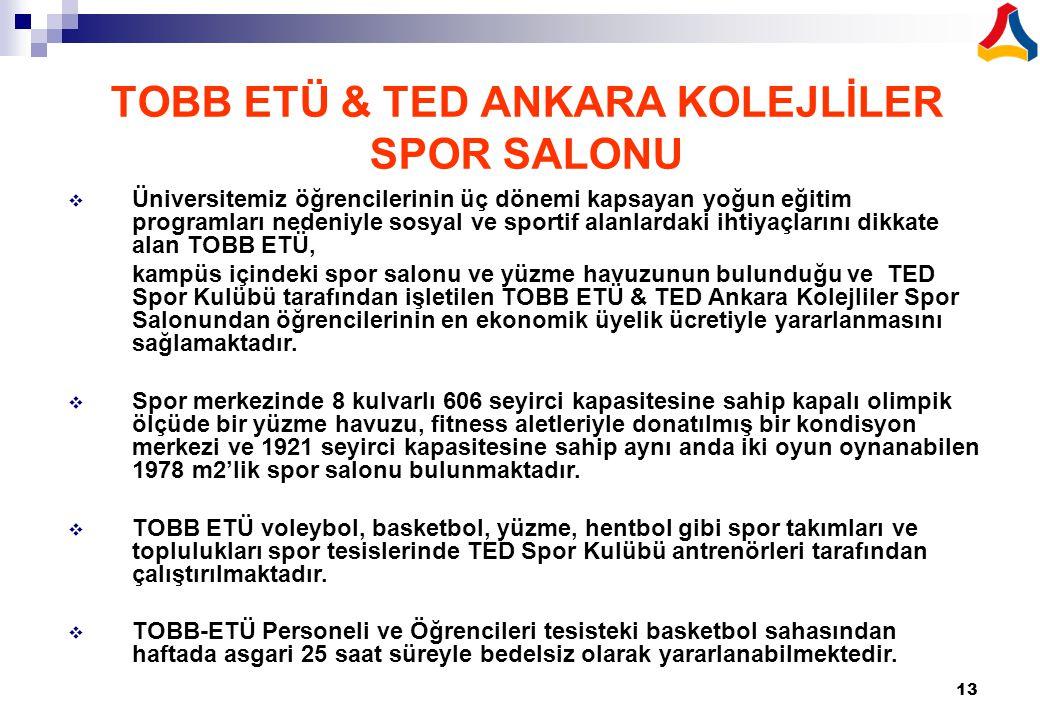TOBB ETÜ & TED ANKARA KOLEJLİLER SPOR SALONU