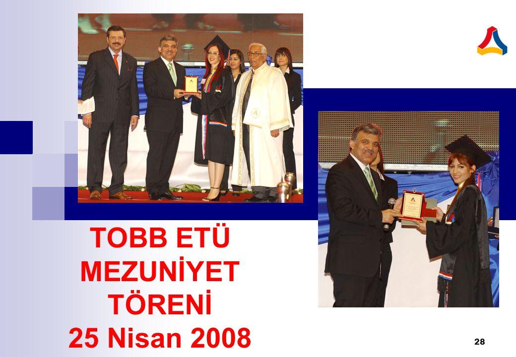 TOBB ETÜ MEZUNİYET TÖRENİ 25 Nisan 2008