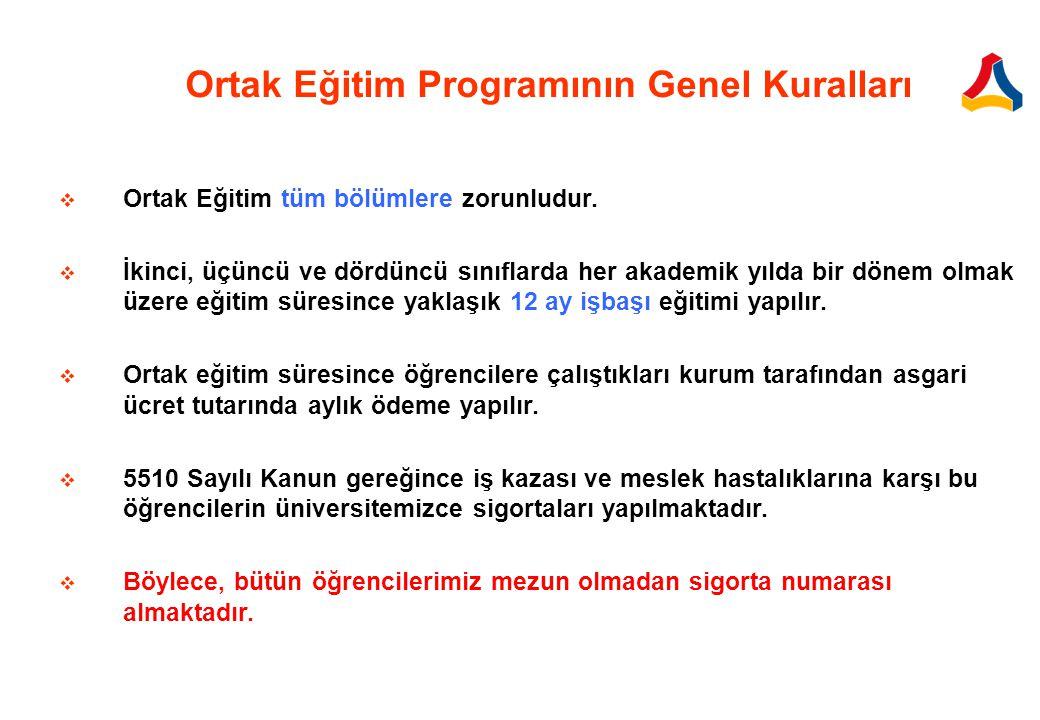 Ortak Eğitim Programının Genel Kuralları