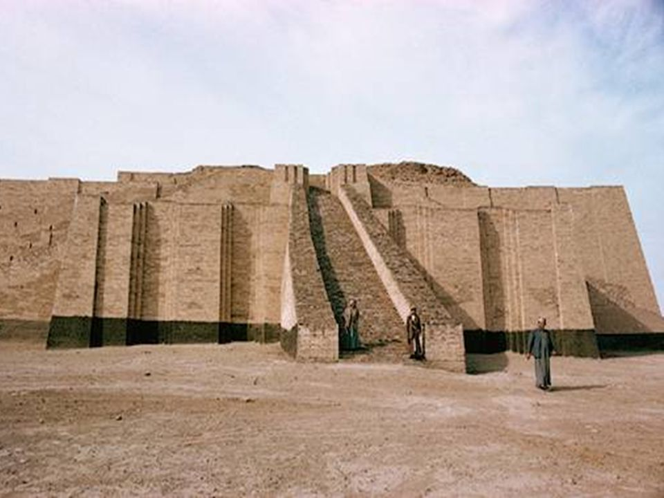 At the site of the ancient Mesopotamian city of Ur stands this ziggurat (mudbrick religious temple towers).