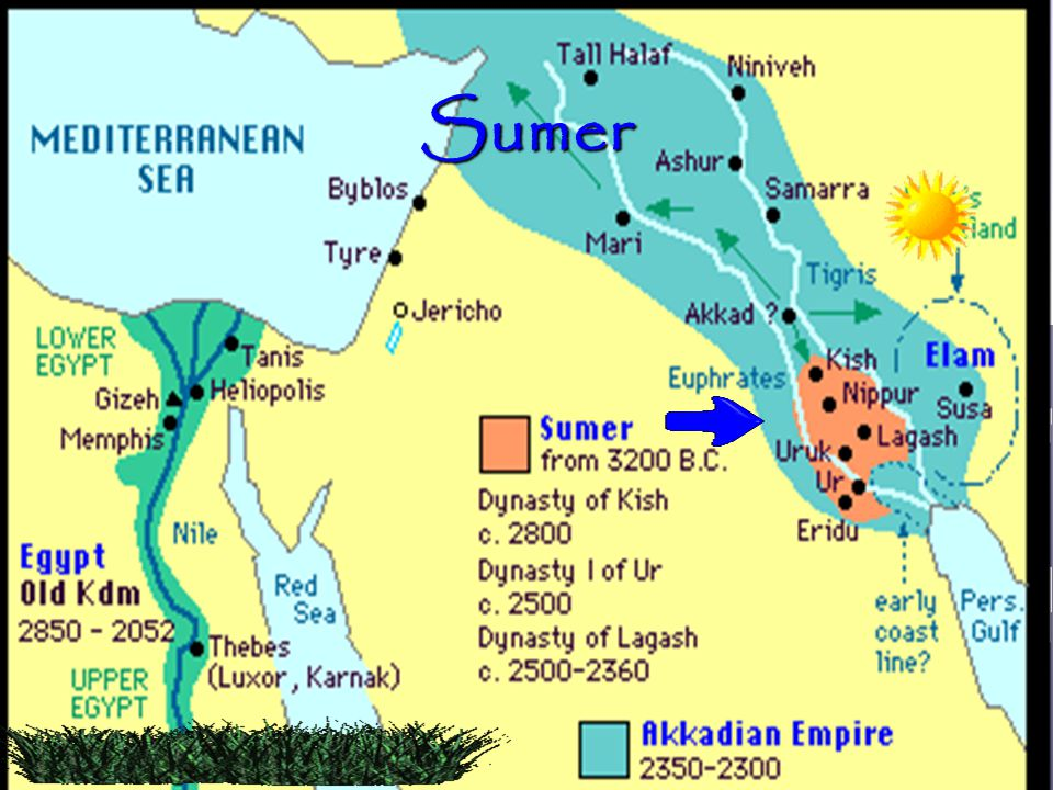 Sumer Have students label Sumer on their map