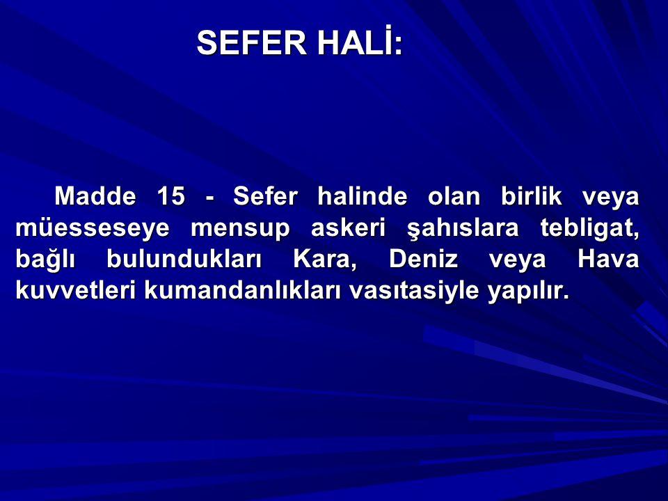 SEFER HALİ: