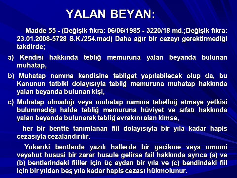 YALAN BEYAN:
